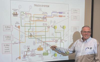 David Oliver and TEBS braking control system